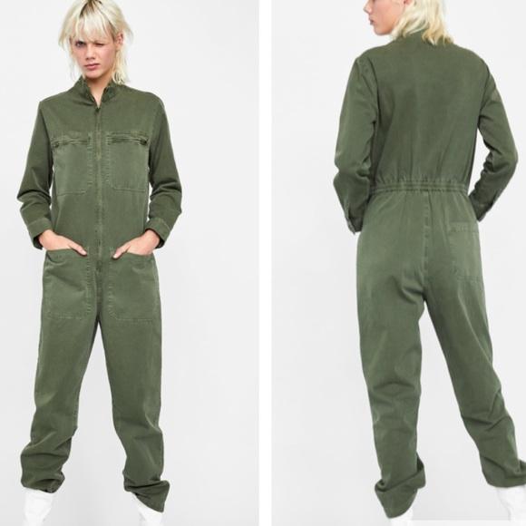4c7bca6c8cc Zara ZW premium worker overall jumpsuit